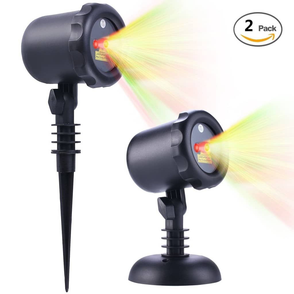Christmas Laser Lights with RF Remote Controller 2 Pack