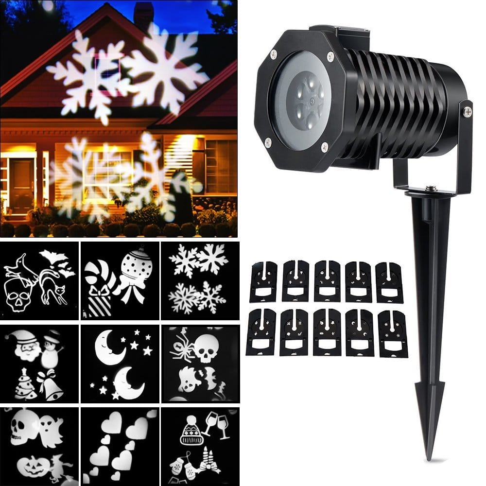 Ucharge Rotating Night Light Projector With 10 Slides Snowflake Spotlight