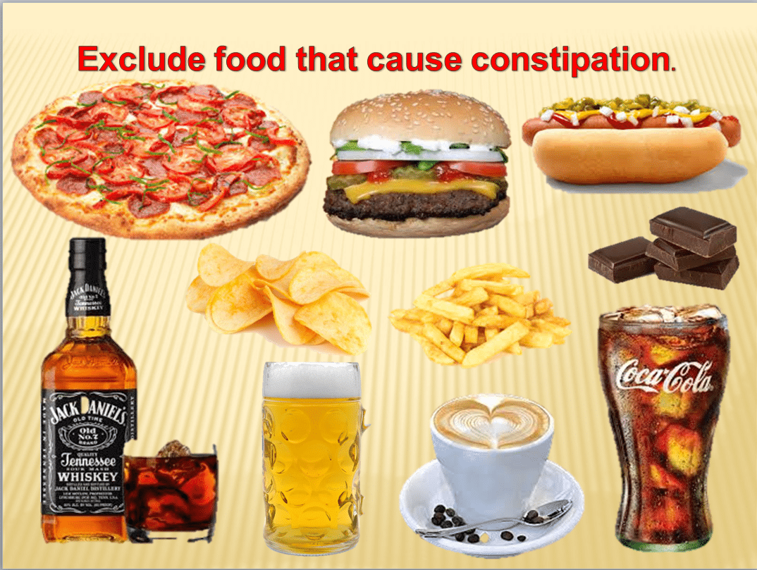 what foods can cause constipation