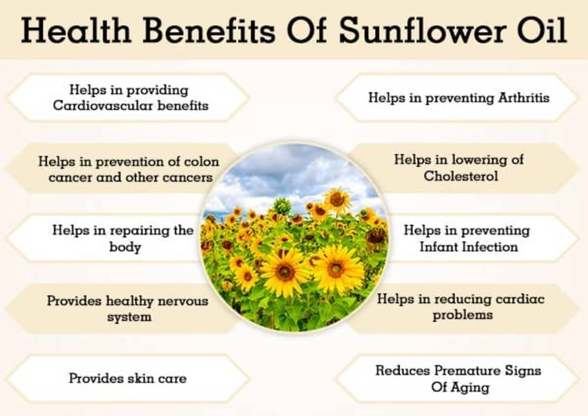 Cooking Benefits sunflower oil
