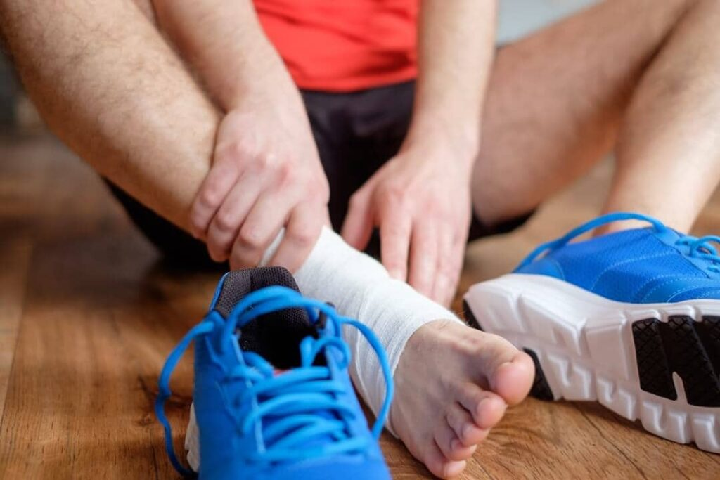 Physiotherapy treatment for ankle sprains