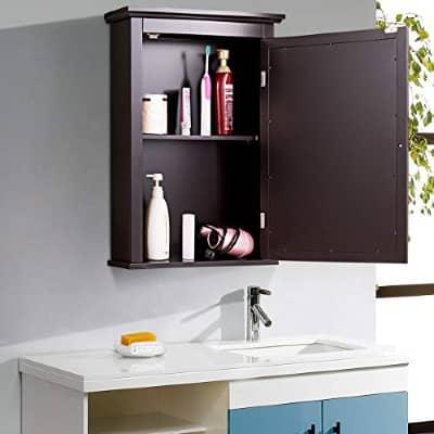 Tangkula Mirror Bathroom Cabinet